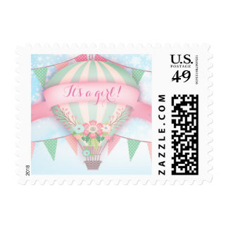 GC Hot Air Balloon It's a girl Postage