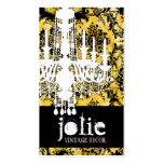 GC | Jolie Chandelier Bee Damask Business Card Templates