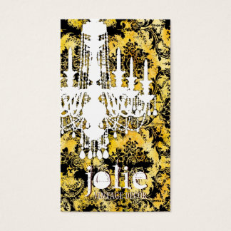 GC | Jolie Chandelier Bee Damask Business Card