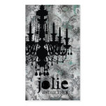 GC | Jolie Chandelier Gray Damask Double-Sided Standard Business Cards (Pack Of 100)