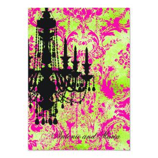 GC | Jolie Chandelier hot Lime  Damask Card