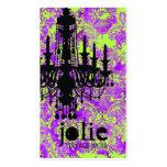 GC | Jolie Chandelier Hot Violet Damask Business Card