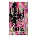 GC | Jolie Chandelier Pink Gray Damask Business Cards