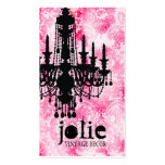 GC Jolie Chandelier White Pink Damask Double-Sided Standard Business Cards (Pack Of 100)