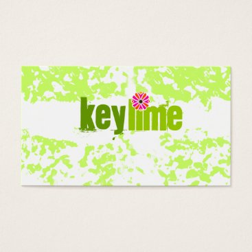 Beach Themed GC | Key Lime Grunge Business Card