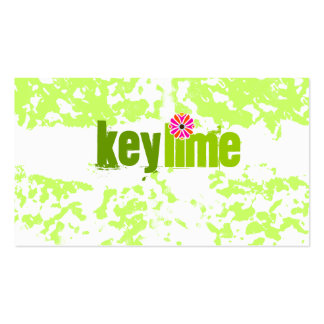 GC   Key Lime Grunge Double-Sided Standard Business Cards (Pack Of 100)