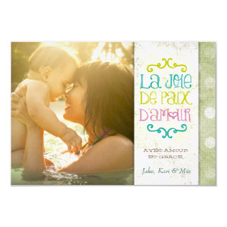 GC | La Joie De Paix D'Amour Grungy Linen Vert Card
