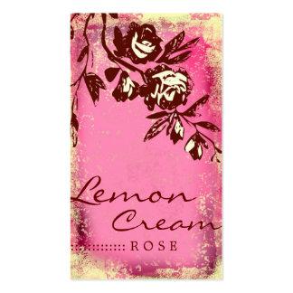 GC   Lemon Cream Rose Business Card