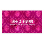 GC | Life & Living Damask Hot Pink Business Cards