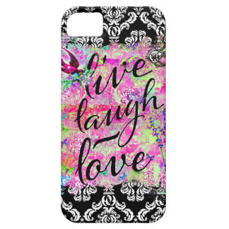 GC Live Laugh Love Vintage Scene Damask iPhone 5 Cases