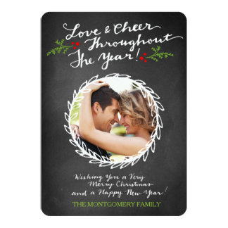 GC Love & Cheer Throughout Chalkboard Holiday Card