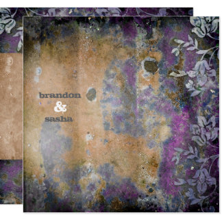 GC | Lusciously Rustic DarkPurple Flower Metallic Card