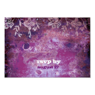 GC | Lusciously Rustic Plum RSVP Fits 5.25x5.25 Card