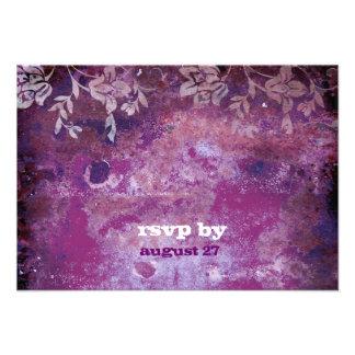GC Lusciously Rustic Plum RSVP Fits 5 25x5 25 Custom Invitations