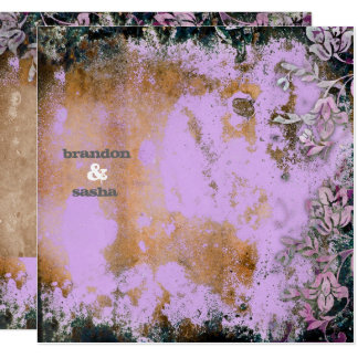 GC | Lusciously Rustic Purple Flower Metallic Card