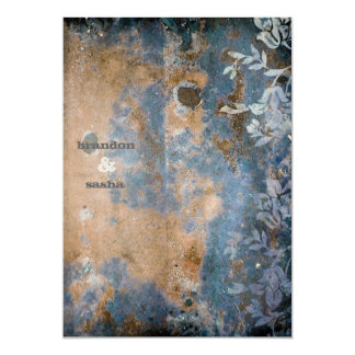 GC | Lusciously Rustic w/flower | Golden Metallic Card