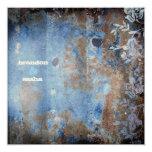 GC | Lusciously Rustic w/flowers MetallicPaper 5.25x5.25 Square Paper Invitation Card