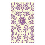 GC | Lush Garden Classic Purple Business Card Template