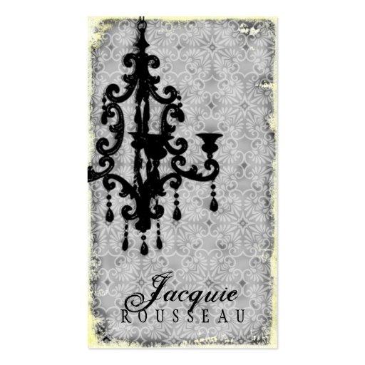 GC | Lustre Passionné - Grey Business Card Templates