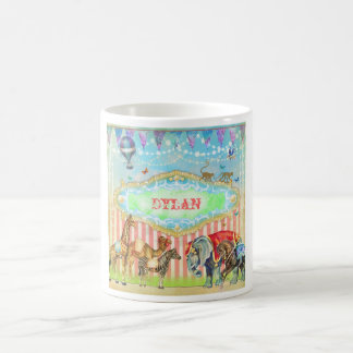 GC Magical Join the Circus Vintage Blue Classic White Coffee Mug
