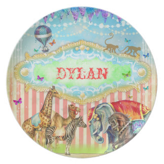 GC Magical Join the Circus Vintage Stripes Blue Plate