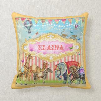 GC Magical Join the Circus Vintage Throw Pillow