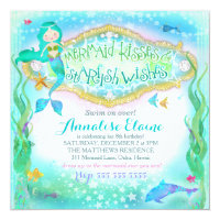 Dolphin birthday party invitations announcements zazzle gc magical mermaid invitation filmwisefo Gallery