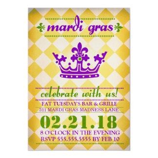 GC Mardi Gras Madness Gold Metallic Card