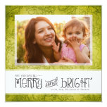 GC | May Your Days Be Merry & Bright Lime Invitations