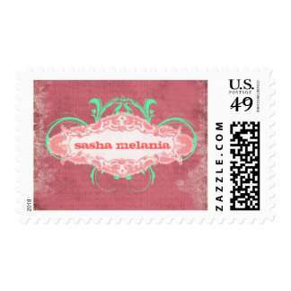 "GC | Modishly Melon  ""Aged"" Postage Stamps"