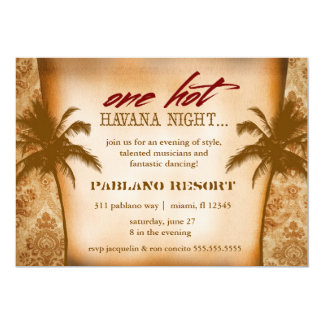GC One Hot Havana Night Personalized Invitations