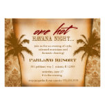 GC One Hot Havana Night Personalized Invitations