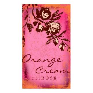 GC   Orange Cream Rose Business Card
