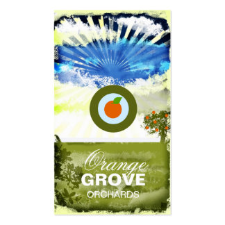 GC | Orange Grove Card with Logo Double-Sided Standard Business Cards (Pack Of 100)