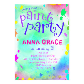 GC Paint Party Birthday Card