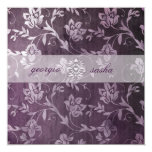 GC Passionately Purple Floral Vintage Custom Announcements
