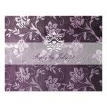 GC | Passionately Purple Floral Vintage RSVP Personalized Invites