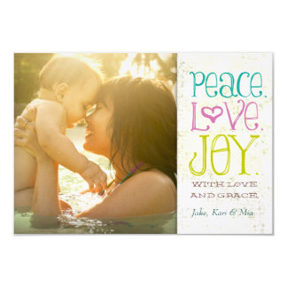 GC | Peace Love and Joy Grungy Linen Card