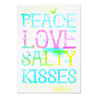 GC Peace Love Salty Kisses Card