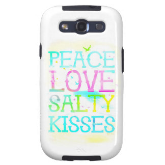 GC Peace Love Salty Kisses Galaxy S3 Cover