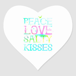 GC Peace Love Salty Kisses Heart Sticker