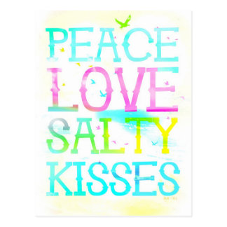 GC Peace Love Salty Kisses Postcard