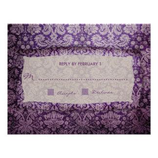 GC | Purple Rapture Vintage RSVP Personalized Invitations