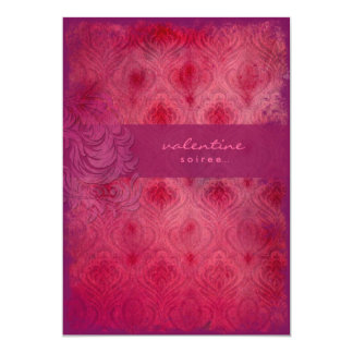 GC   Rouge Divine Valentine Vintage Invitation