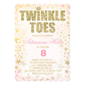 GC Scalloped Glitter Twinkle Toes Dancer Card