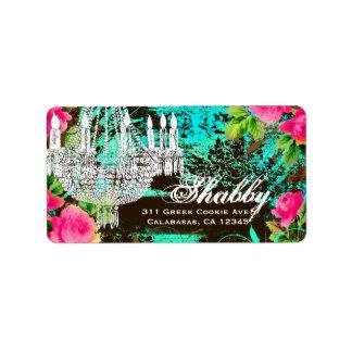 GC Shabby Aqua Garden Couture Chandelier Label