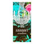 GC Shabby Aqua Garden Couture Chandelier Full Color Rack Card