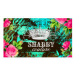 GC Shabby Aqua Garden Tiara Business Card Templates