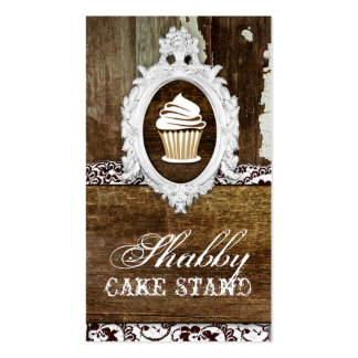 GC Shabby Cake Stand Baroque Frame Double-Sided Standard Business Cards (Pack Of 100)