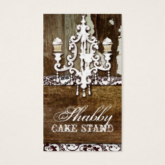GC Shabby Cake Stand Chandelier Business Card